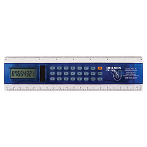 "Item: 7406 - 8"" Solar Calculator Ruler"