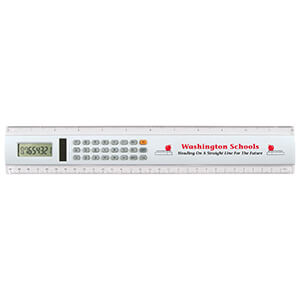 "Item: 7407 - 12"" Solar Calculator Ruler"