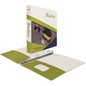 "Item: 7773 - 1"" Paperboard Binder with Pocket"